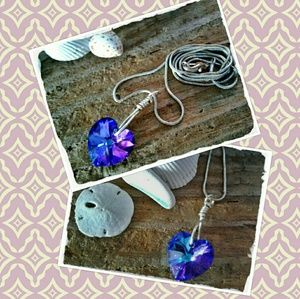 Jewelry - 💜 HEART OF THE SEA CRYSTAL NECKLACE 💜